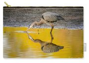 Great Blue Heron On Yellow Carry-all Pouch