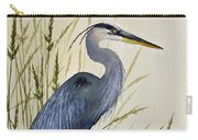 Great Blue Heron Splendor Carry-all Pouch by James Williamson