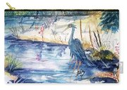 Great Blue Heron Square Cropped  Carry-all Pouch