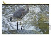 Great Blue Heron Standing In Stream Carry-all Pouch
