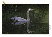 Great Blue Heron Swimming Carry-all Pouch