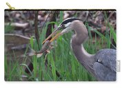 Great Blue Heron With His Catch Carry-all Pouch