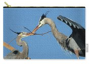 Great Blue Herons Build A Nest Carry-all Pouch