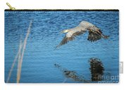 Great Blue In Flight #3 Carry-all Pouch