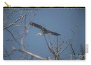 Great Blue In Flight Carry-all Pouch