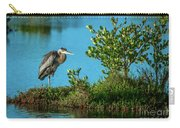 Great Blue On One Leg Carry-all Pouch