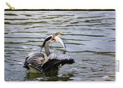 Great Blue With A Drum Carry-all Pouch