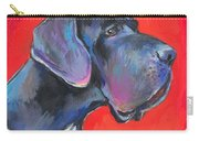 Great Dane Painting Carry-all Pouch by Svetlana Novikova