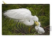 Great Egret And Chick Carry-all Pouch