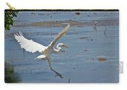 Great Egret Ascending Carry-all Pouch