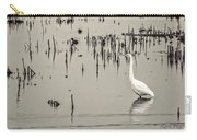 Great Egret At Horicon - B - W  Carry-all Pouch