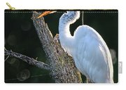 Great Egret At Rest Carry-all Pouch