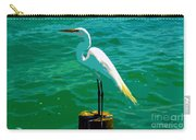 Great Egret Emerald Sea Carry-all Pouch