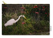 Great Egret In The Garden Carry-all Pouch