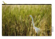 Great Egret In The Morning Dew Carry-all Pouch