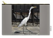 Great Egret In The Neighborhood Strutting 1 Carry-all Pouch