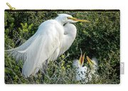 Great Egret Mom And Babies Carry-all Pouch