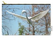 Great Egret Over The Treetops Carry-all Pouch