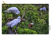 Great Egret Pair Carry-all Pouch