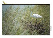 Great Egret Through Reeds Carry-all Pouch