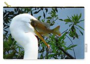 Great Egret With Catch 2 Carry-all Pouch