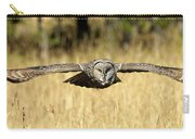 Great Gray Owl In Flight Carry-all Pouch