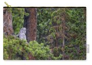 Great Gray Owl Perched Carry-all Pouch