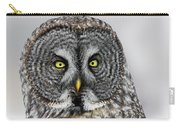 Great Gray Owl Portrait Carry-all Pouch