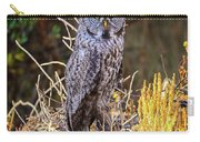 Great Grey Owl Portrait Carry-all Pouch