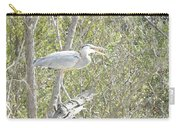 Great Heron With Mouth Open Carry-all Pouch