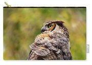 Great Horned Owl At Attention Carry-all Pouch