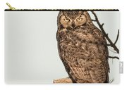 Great Horned Owl At Dusk Carry-all Pouch