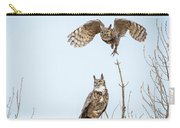Great Horned Owl Couple Carry-all Pouch