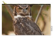 Great Horned Owl In A Tree 3 Carry-all Pouch