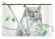 Great Horned Owl Perched In A Tree Carry-all Pouch