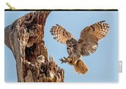 Great Horned Owl Returning To Her Nest Carry-all Pouch