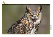Great Horned Owl Screeching Carry-all Pouch