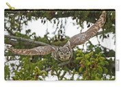 Great Horned Owl Takeoff Carry-all Pouch