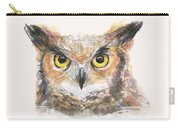 Great Horned Owl Watercolor Carry-all Pouch