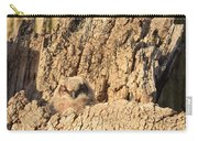Great Horned Owlet Two Carry-all Pouch
