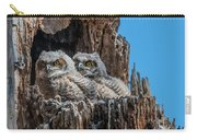 Great Horned Owlets Carry-all Pouch