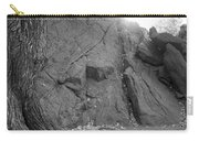 Great Mountains Of Central Park In Black And White Carry-all Pouch