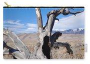 Great Sand Dunes National Park Fallen Tree Portrait Carry-all Pouch