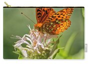 Great Spangled Fritillary On Bee Balm Carry-all Pouch