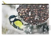 Great Tit In The Snow Card Carry-all Pouch