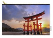 Great Torii Of Miyajima At Sunset Carry-all Pouch