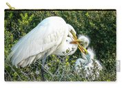Great White Egret Family Carry-all Pouch