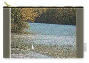 Great White Egret Fishing  Carry-all Pouch