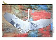 Great White Egret Landing Carry-all Pouch