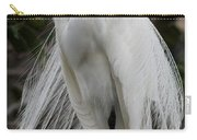 Great White Egret Windblown Carry-all Pouch